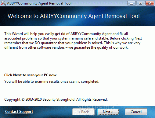 ABBYYCommunity Agent Removal Tool Crack + Activation Code