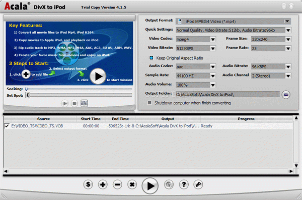 Acala DVD Ripper and iPod Video Bundle Crack & Activation Code