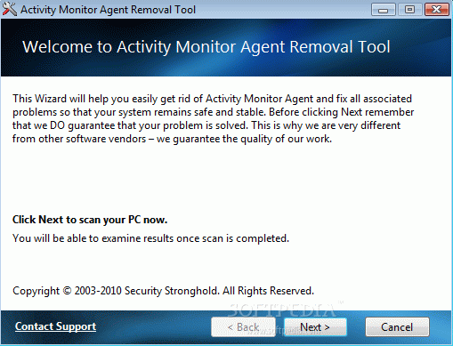 Activity Monitor Agent Removal Tool Crack + Serial Number (Updated)