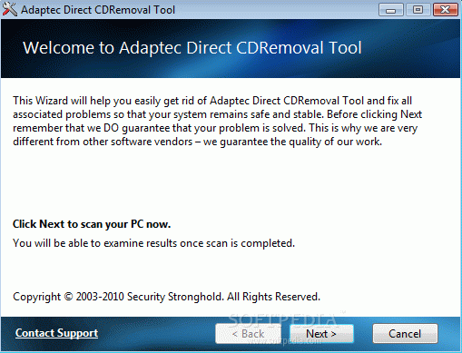 Adaptec DirectCD Removal Tool Crack & Activation Code