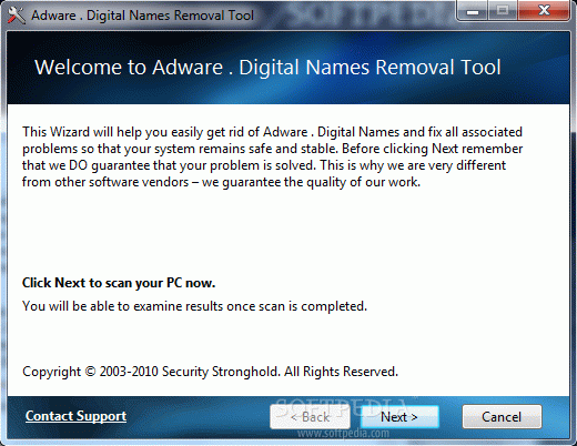 Adware . Digital Names Removal Tool Crack + License Key