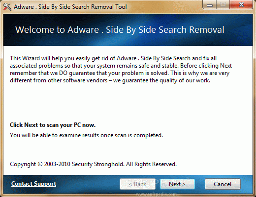 Adware . Side By Side Search Removal Tool Serial Number Full Version