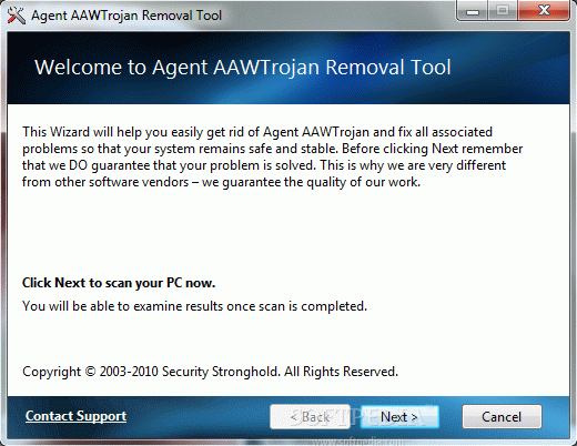 Agent AAWTrojan Removal Tool Crack + License Key Download
