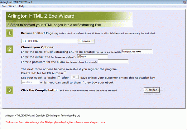 Arlington HTML2EXE Wizard Crack With Activation Code 2021