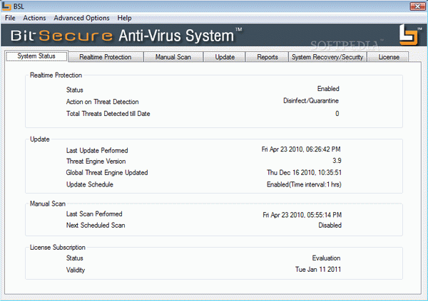 BitSecure AntiVirus System Crack + Serial Key Updated