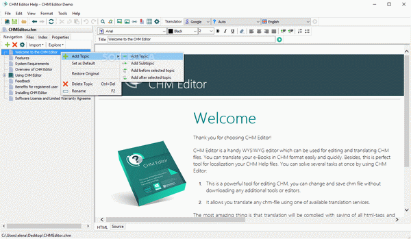 CHM Editor Crack Plus Activation Code