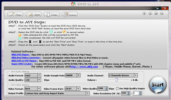 DVD to AVI Crack With Serial Key