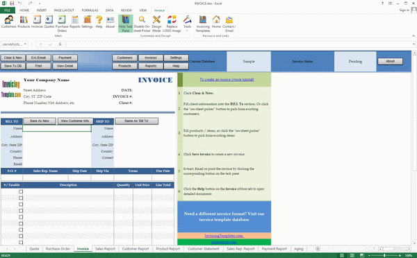 Invoice Manager for Excel Crack With License Key Latest