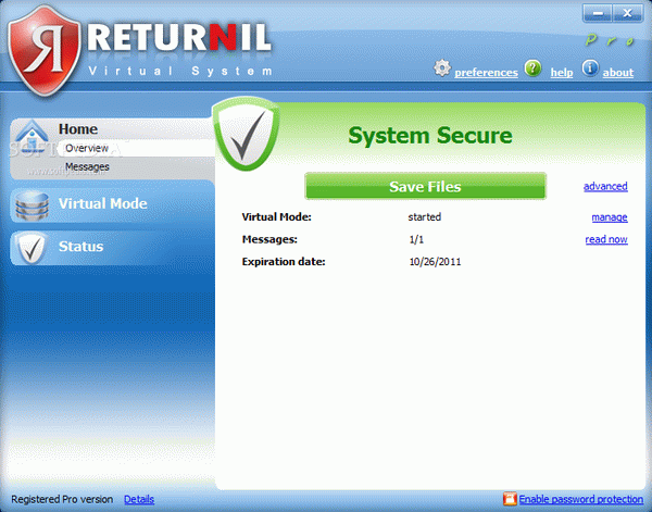 Returnil Virtual System Pro 2011 Activator Full Version