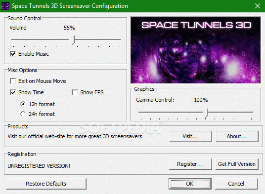 Space Tunnels 3D Screensaver Activation Code Full Version