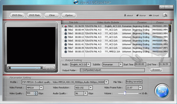 WinX Free DVD to PSP Ripper Crack + Activator
