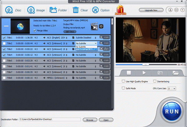 WinX Free DVD to VOB Ripper Crack + Keygen